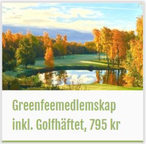 Golfmedlemskap + Golfhäftet = 795 kr